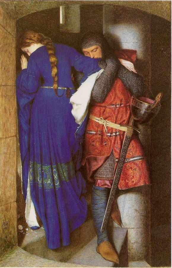 Frederic_William_Burton_-_Hellelil_and_Hildebrand_or_The_Meeting_on_the_Turret_Stairs 22