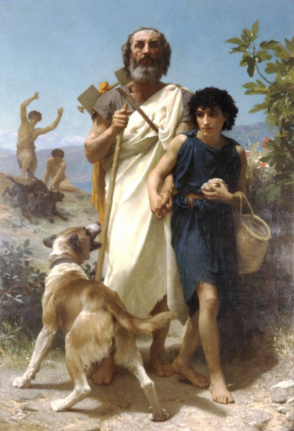 Homer and his Guide 1874
