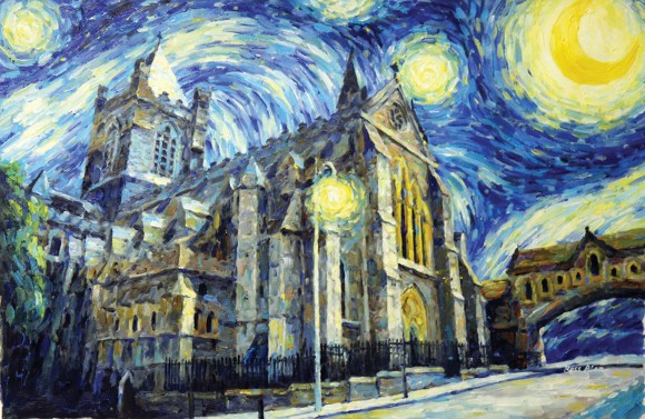 starry night over dublin christ church