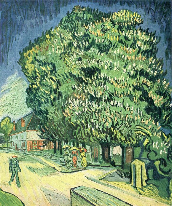 Blossoming chestnut tree by Van Gogh