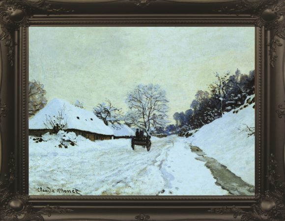 Cart On Snow by Monet