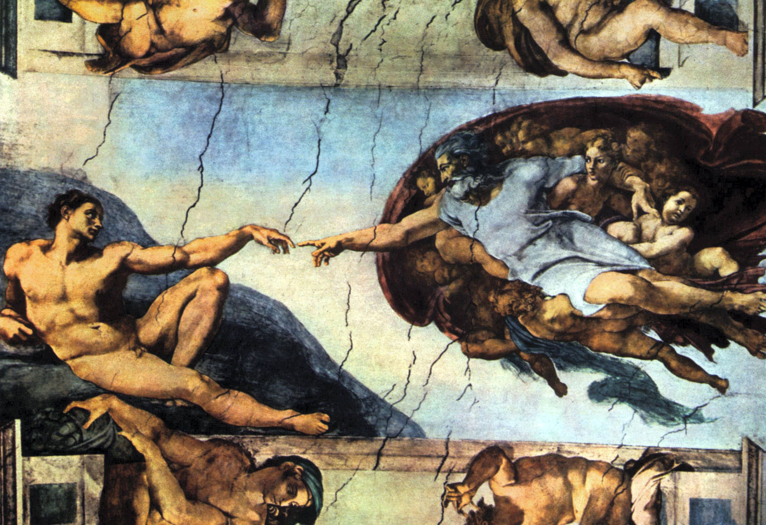 creation of adam by michelangelo old masters