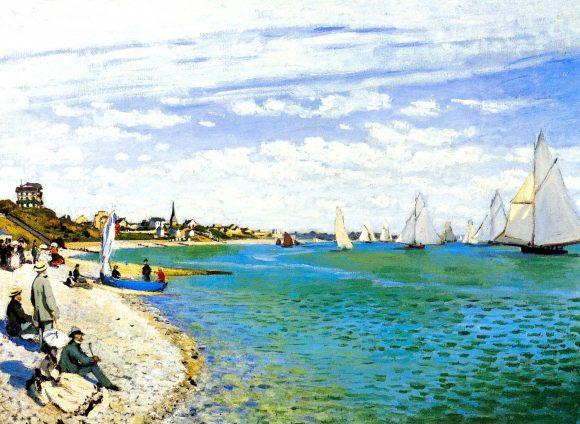 Regatta at Saint Adresse by Monet