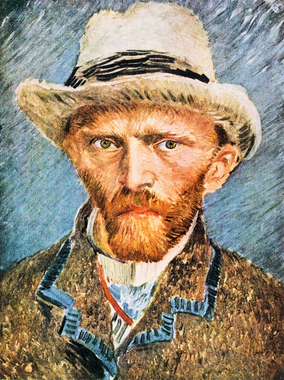 Self-portrait with a gray felt hat [1] by Van Gogh