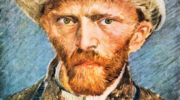 Self-portrait with a gray felt hat [1] by Van Gogh