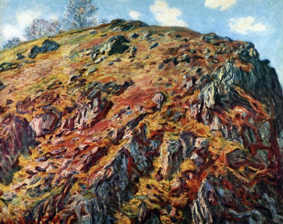 The boulder by Monet