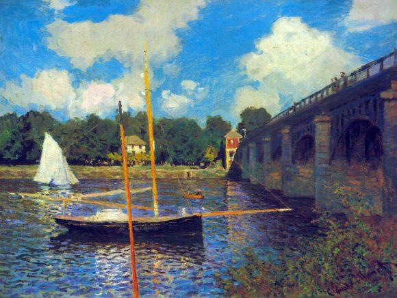 The road bridge, Argenteuil by Monet