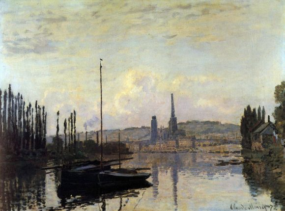 View of Rouen by Monet